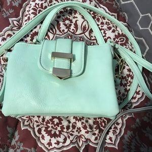 Mint green purse